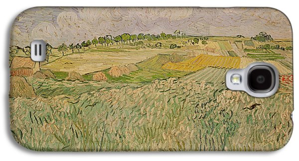 Farm Fields Paintings Galaxy S4 Cases - The Plain at Auvers Galaxy S4 Case by Vincent Van Gogh