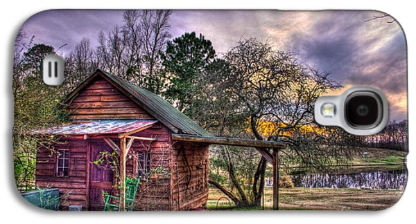 Pastureland Galaxy S4 Cases - The Play House at Sunset near Lake Oconee. Galaxy S4 Case by Reid Callaway