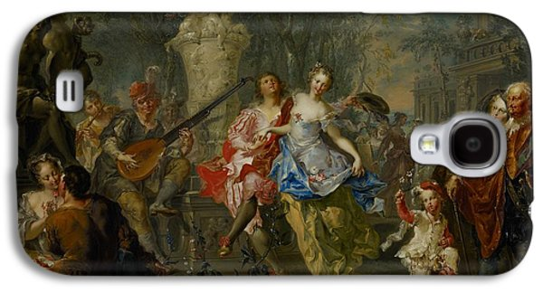 Lute Paintings Galaxy S4 Cases - The Pleasures of the Seasons     Spring Galaxy S4 Case by Johann Georg Platzer