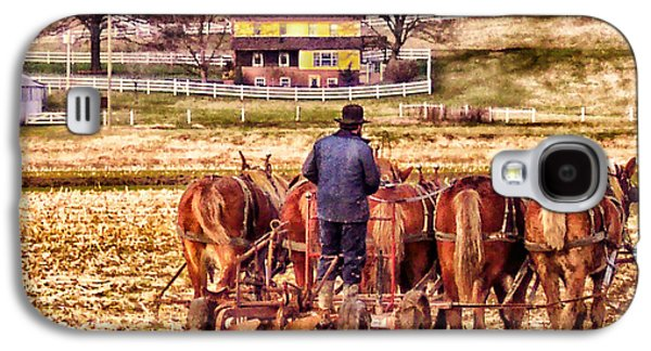 Amish Photographs Galaxy S4 Cases - The Plow Galaxy S4 Case by B Wayne Mullins