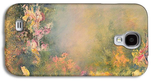 Mystical Landscape Paintings Galaxy S4 Cases - The Poetry of Nature Galaxy S4 Case by Hannibal Mane