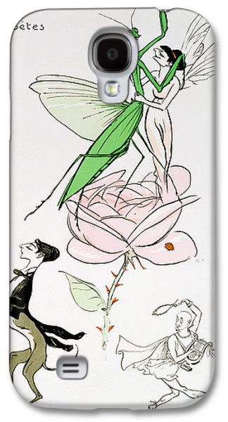 Fanciful Galaxy S4 Cases - The Poets Corner Galaxy S4 Case by Sem