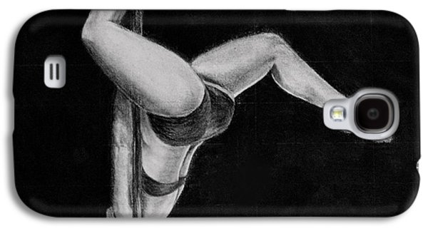 Pole Drawings Galaxy S4 Cases - The Pole Dancer Galaxy S4 Case by Nadia Vanilla