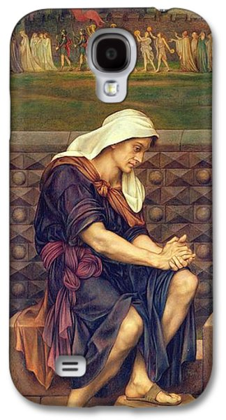 Saving Paintings Galaxy S4 Cases - The Poor Man who Saved the City Galaxy S4 Case by Evelyn De Morgan