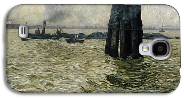 Hamburg Galaxy S4 Cases - The Port of Hamburg Galaxy S4 Case by Leopold Karl Walter von Kalckreuth