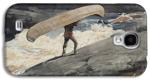 Beach Landscape Galaxy S4 Cases - The Portage Galaxy S4 Case by Winslow Homer