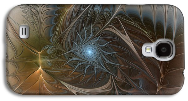 Lively Galaxy S4 Cases - The Power Inside-Abstract Fractal Art Galaxy S4 Case by Karin Kuhlmann