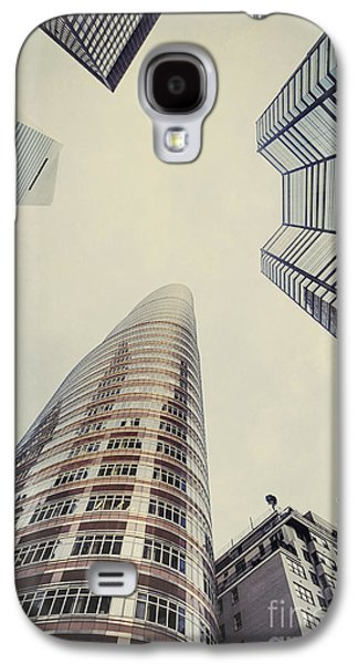Manhattan Street Galaxy S4 Cases - The Powers Above Galaxy S4 Case by Evelina Kremsdorf