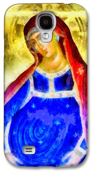 Greek Icon Paintings Galaxy S4 Cases - The Pregnant Lady Galaxy S4 Case by George Rossidis