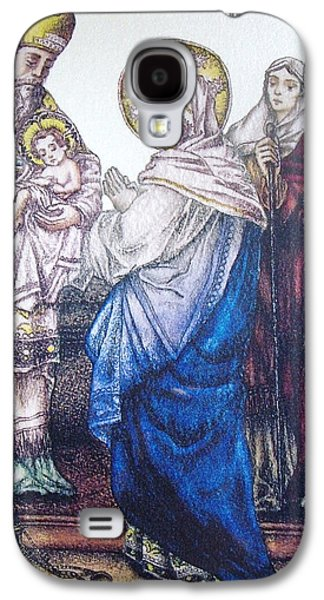 Religious Drawings Galaxy S4 Cases - The Presentation of Baby Jesus to the Temple Galaxy S4 Case by Conor OBrien
