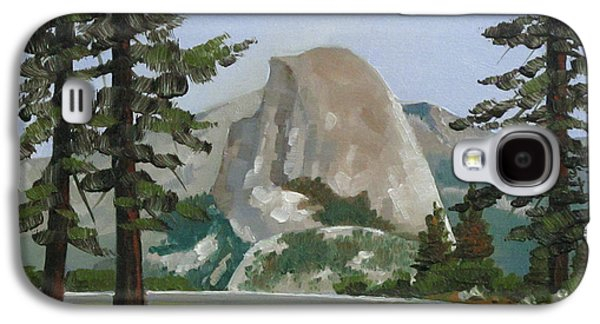 Half Dome Paintings Galaxy S4 Cases - The Prettiest of Views Galaxy S4 Case by Dorothy Jenson
