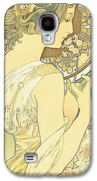 Primroses Galaxy S4 Cases - The Primrose Galaxy S4 Case by Alphonse Marie Mucha