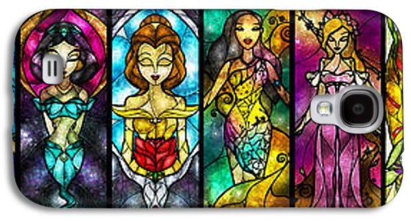 African-american Digital Galaxy S4 Cases - The Princesses Galaxy S4 Case by Mandie Manzano