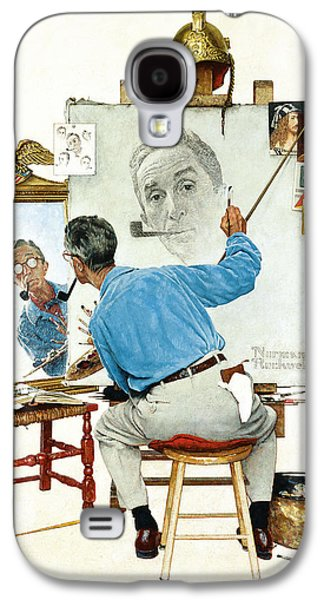 Personalities Photographs Galaxy S4 Cases - The Problem We All Live With by Norman Rockwell Galaxy S4 Case by Nomad Art And  Design