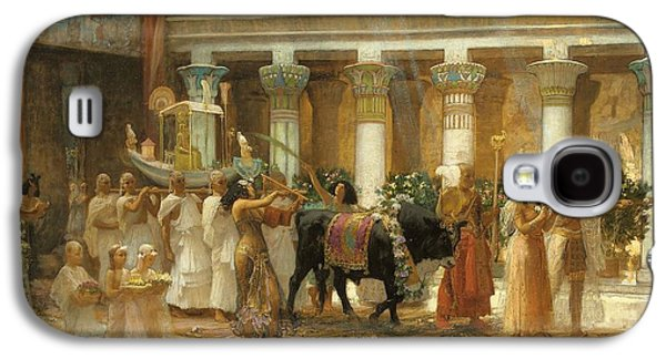 The Procession Of The Sacred Bull Galaxy S4 Case by Frederick Arthur Bridgman