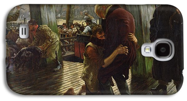 Forgiveness Paintings Galaxy S4 Cases - The Prodigal Son in Modern Life Galaxy S4 Case by James Jacques Joseph Tissot