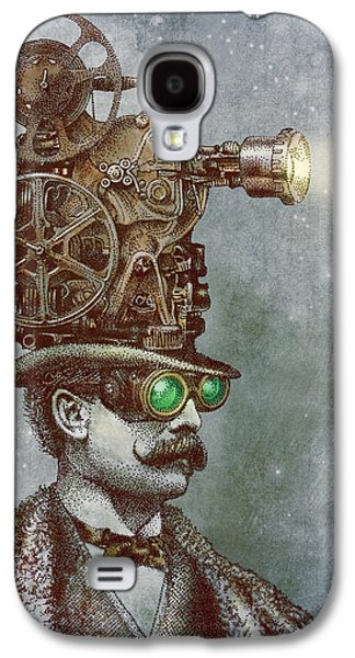 Fantasy Drawings Galaxy S4 Cases - The Projectionist Galaxy S4 Case by Eric Fan