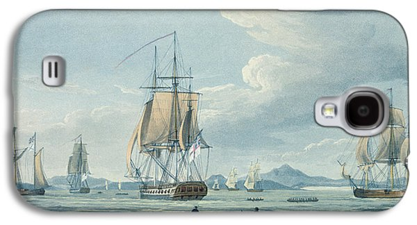 Sailboats In Harbor Galaxy S4 Cases - The Prometheus and the Melpomene in the Gulf of Riga Galaxy S4 Case by Thomas Whitcombe