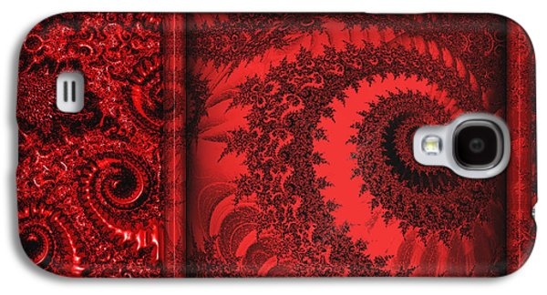 Texas Artist Galaxy S4 Cases - The Proper Victorian In Red  Galaxy S4 Case by Wendy J St Christopher