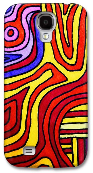 Trippy Drawings Galaxy S4 Cases - The Psychedelic Musings of a Squid Galaxy S4 Case by Mimulux patricia no