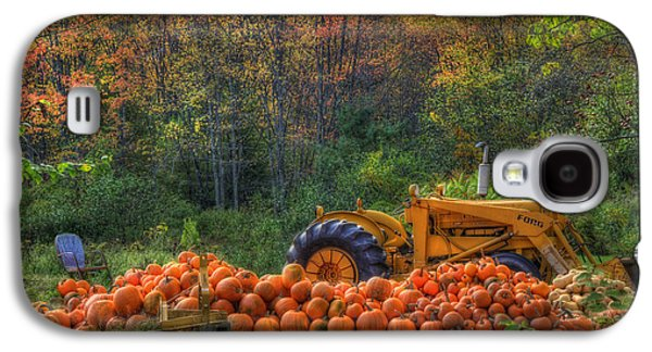 Tractor Prints Galaxy S4 Cases - The Pumpkin Patch Galaxy S4 Case by Joann Vitali