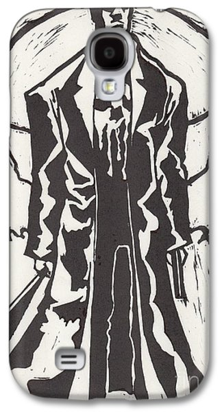 Linocut Drawings Galaxy S4 Cases - The Punisher Galaxy S4 Case by Vergil Nikolov