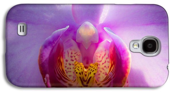 Pinks And Purple Petals Photographs Galaxy S4 Cases - The Purple Orchid Galaxy S4 Case by David Patterson