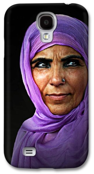 Purple Robe Galaxy S4 Cases - The Purple Sari Galaxy S4 Case by Diana Angstadt