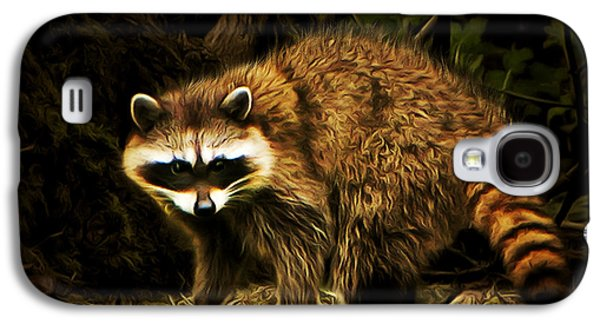 Raccoon Digital Art Galaxy S4 Cases - The Raccoon 20150211brun Galaxy S4 Case by Wingsdomain Art and Photography