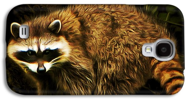 Raccoon Digital Art Galaxy S4 Cases - The Raccoon 20150215brun square Galaxy S4 Case by Wingsdomain Art and Photography