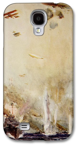 Wwi Paintings Galaxy S4 Cases - The Raid on Cuxhaven Galaxy S4 Case by Cyrus Cuneo