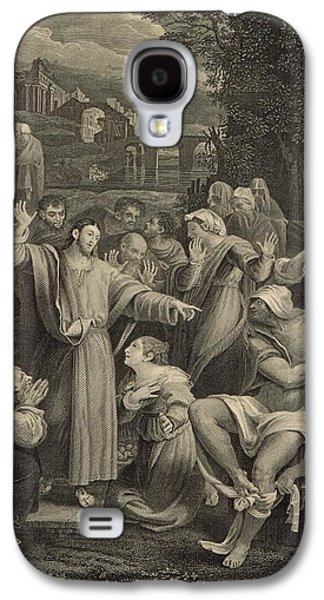 Resurrecting Drawings Galaxy S4 Cases - The Raising of Lazarus 1886 Engraving Galaxy S4 Case by Antique Engravings
