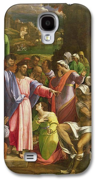 Miracle Galaxy S4 Cases - The Raising Of Lazarus, C.1517-19 Oil On Canvas Transferred From Wood Galaxy S4 Case by Sebastiano del Piombo