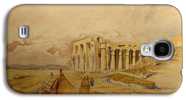 The Ramesseum Theban Necropolis Egypt Galaxy S4 Case by Juan  Bosco