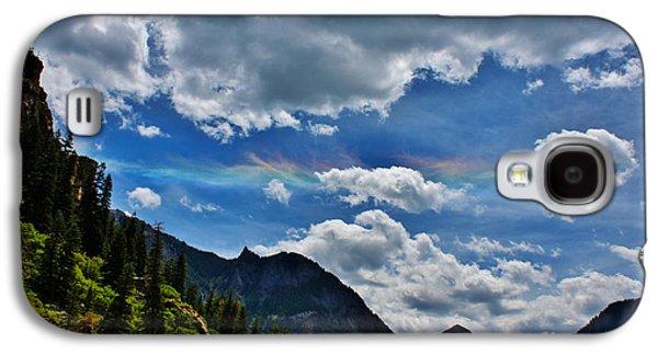 A Summer Evening Landscape Galaxy S4 Cases - The Rare Phenomena Rainbows Galaxy S4 Case by Janice Rae Pariza