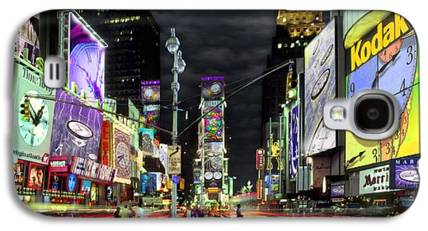 Times Square Digital Galaxy S4 Cases - The Real Time Square Galaxy S4 Case by Mike McGlothlen