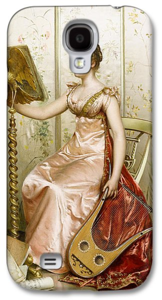 Woman In A Dress Galaxy S4 Cases - The Recital Galaxy S4 Case by Frederick Soulacroix