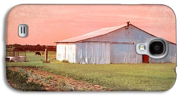 Rural Scenes Digital Galaxy S4 Cases - The Red Door Galaxy S4 Case by Betty LaRue
