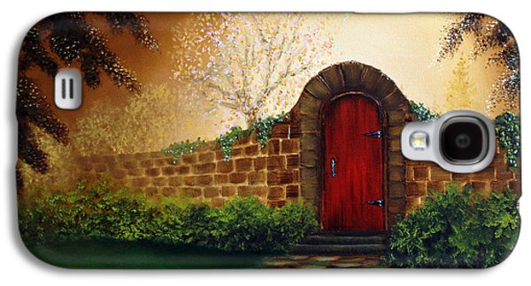 Kinkade Galaxy S4 Cases - The Red Door Galaxy S4 Case by David Kacey