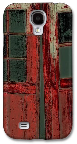 Creepy Galaxy S4 Cases - The Red Doors Galaxy S4 Case by Karol  Livote