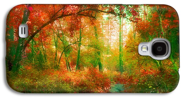 Overhang Photographs Galaxy S4 Cases - The Red Forest Galaxy S4 Case by Tara Turner