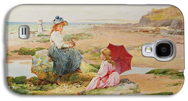 On The Beach Galaxy S4 Cases - The Red Parasol Galaxy S4 Case by Alfred Glendening Jr