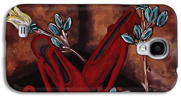 Dance Floor Paintings Galaxy S4 Cases - The Red Shoes Galaxy S4 Case by Barbara St Jean
