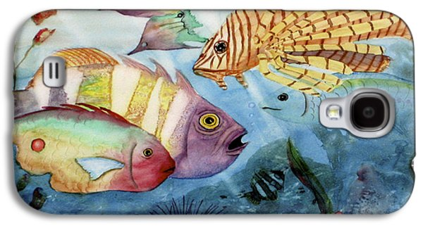 Yellow Beak Paintings Galaxy S4 Cases - The Reef Galaxy S4 Case by Mohamed Hirji