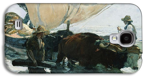Water Vessels Paintings Galaxy S4 Cases - The Return from Fishing Galaxy S4 Case by Joaquin Sorolla y Bastida