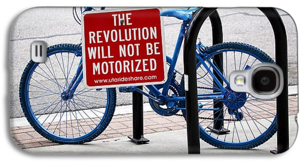 Bicycle Photographs Galaxy S4 Cases - The Revolution Will Not Be Motorized Galaxy S4 Case by Rona Black
