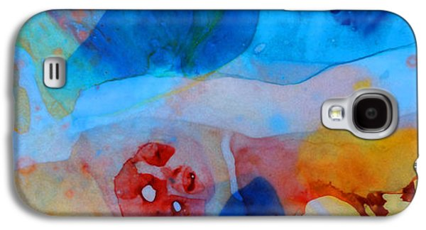Abstracts Galaxy S4 Cases - The Right Path - Colorful Abstract Art by Sharon Cummings Galaxy S4 Case by Sharon Cummings