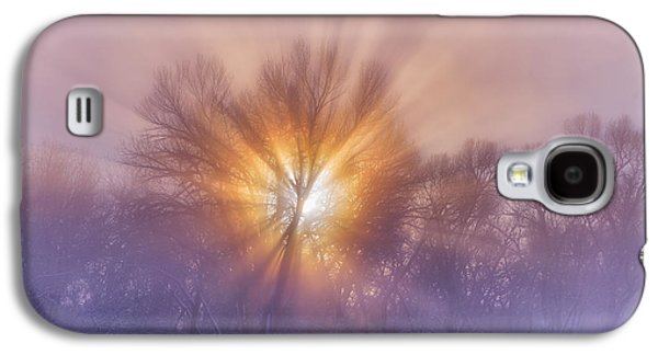 Landscape Acrylic Prints Galaxy S4 Cases - The Rising Galaxy S4 Case by Darren  White