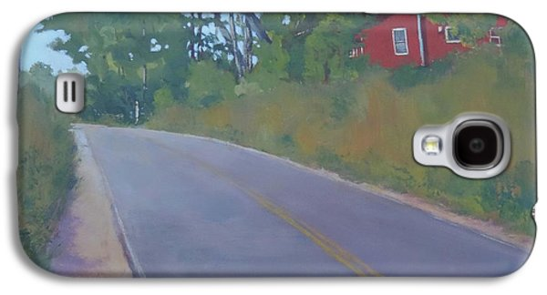 Maine Roads Paintings Galaxy S4 Cases - The Road Home Galaxy S4 Case by Bill Tomsa
