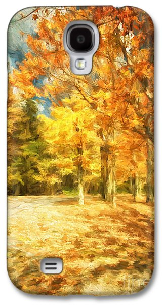 Autumn Landscape Digital Art Galaxy S4 Cases - The Road Home Galaxy S4 Case by Lois Bryan